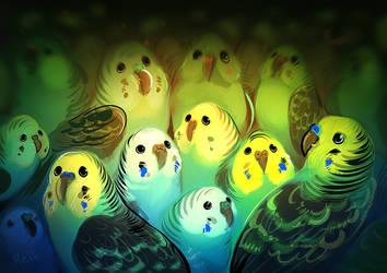 Bird Pile by Hoshi-Ryu
