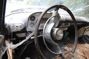 Ghostly '58 Plymouth dash by finhead4ever