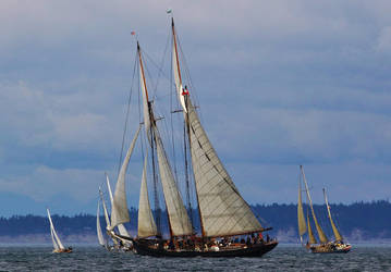 Tall ship full sail by finhead4ever