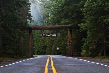 Entrance to Mt. Rainier Nat'l Park by finhead4ever