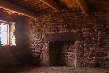 Rustic fireplace by finhead4ever