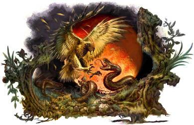 Hawk vs Snake Clans by ESharam