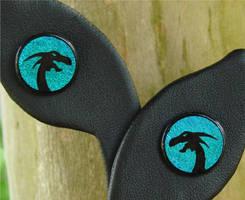 Ice Dragon Glass Earrings by FusedElegance