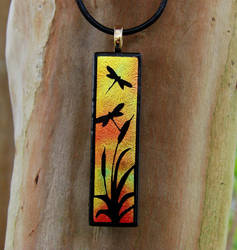 Sunset Dragonfly Fused Glass by FusedElegance