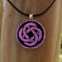 Pink Celtic Knot Fused Glass by FusedElegance