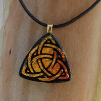 Warm Trinity Knot Fused Glass by FusedElegance