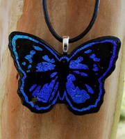 Blue Morpho Glass Butterfly by FusedElegance
