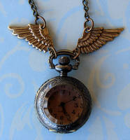 Steampunk PocketWatch Necklace by FusedElegance