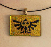 Fused Glass Triforce Pendant by FusedElegance