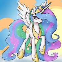 Princess Celestia by XRainbow-ChocoboX