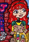 Jean Grey Joker Card by CassieJ787
