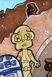 C3PO and R2D2 by CassieJ787