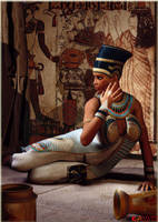 Nefertiti, Queen of Egypt by K-raven