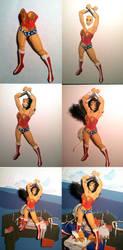 Wonder Woman Progression Shots by paperfetish