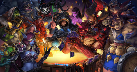 When Heroes Play Hearthstone!~ by zippo514