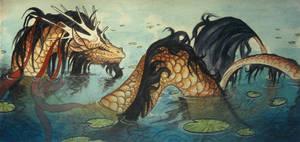 The Forgotten Pond-spirit by Saraais
