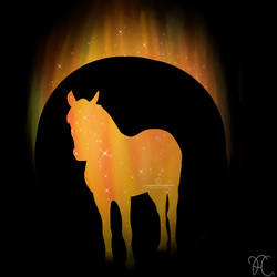 Flame Horse Standing V.2 by DarkoriamStables
