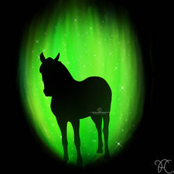 Green Horse Standing by DarkoriamStables
