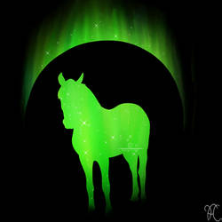 Green Horse Standing V.2 by DarkoriamStables