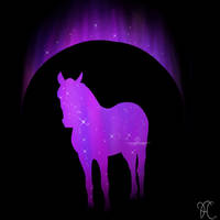 Purple Horse Standing V.2 by DarkoriamStables
