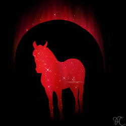 Red Horse Standing V.2 by DarkoriamStables
