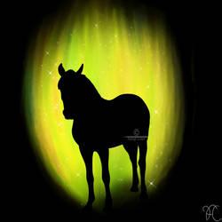 Yello Horse Standing by DarkoriamStables