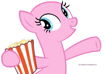 Pinkie Pie with Popcorn Base by SunsetShimmerBases