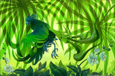 Green Phoenix by kattything