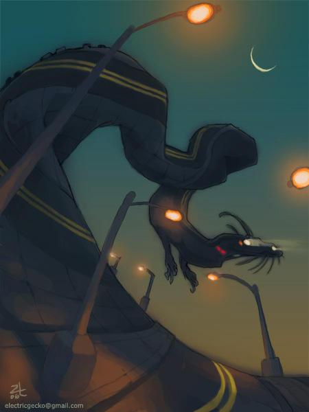 Road Dragon by kattything