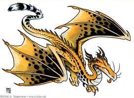 Dragocelot by kattything