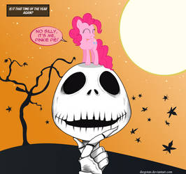 Is it Halloween? - Jack Skellington and Pinkie Pie by DiegoTan