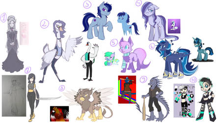 OC redesign stream results pt 1! by LethalAuroraMage