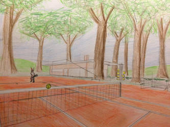 Tennis court by Lynec