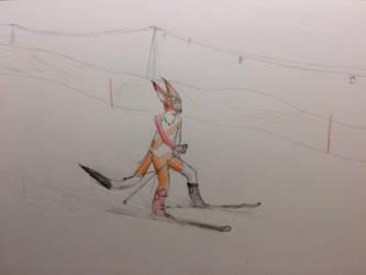 Lynec skiing by Lynec