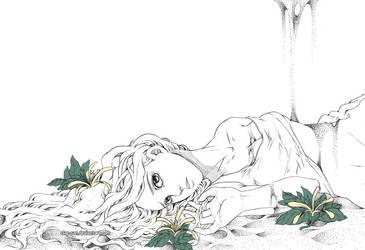 Sabler une fleur by Claparo-Sans