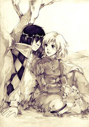 Howl and Sophie by Claparo-Sans