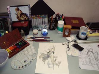 My desk by Claparo-Sans