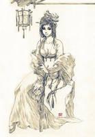 Dragonfly Lady by Claparo-Sans