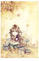 Autumn Reading by Claparo-Sans