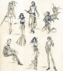 Sketch commissions - Set 5 by Claparo-Sans