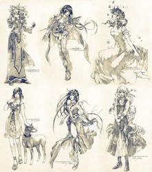 Sketch commissions - Set 6 by Claparo-Sans