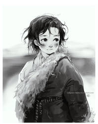 Tibetan kid by Claparo-Sans