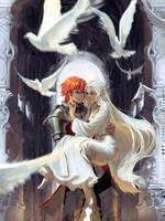 [Arcadia's Ignoble Knight] - Caspian and Elincia by Claparo-Sans