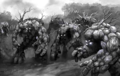 Stone Golem Army by karichristensen