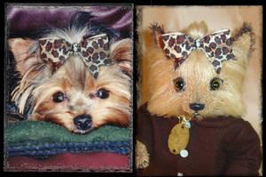 Sadie and Sadie Side by Side by montybearkins