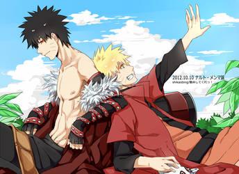20121010-Happy Birthday to Naruto and Menma by Shikaobing