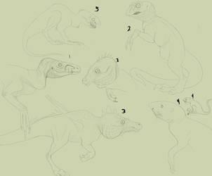 Dino Mutants cont. raptor monsters by Troodontidae