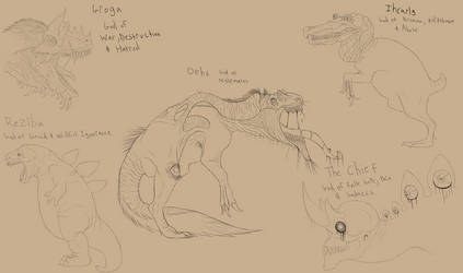 Dinosaur Gods by Troodontidae