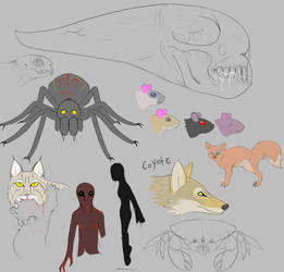 XC Concept Art: Predators and Monsters by Troodontidae