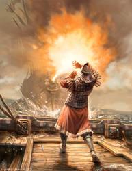 Greek-Fire by Odysseusart